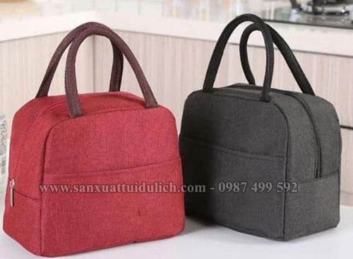 Sản xuất túi giữ nhiệt đựng hộp cơm văn phòng