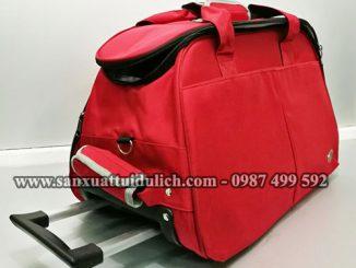 Túi du lịch có tay kéo K02 màu đỏ